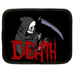 Death   Halloween Netbook Case (large) by Valentinaart