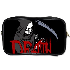 Death   Halloween Toiletries Bags by Valentinaart