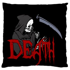 Death   Halloween Large Cushion Case (one Side)