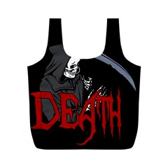Death   Halloween Full Print Recycle Bags (m)