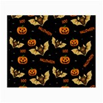 Bat, pumpkin and spider pattern Small Glasses Cloth Front