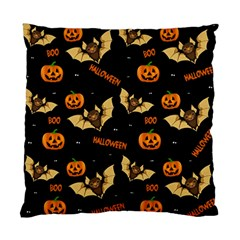 Bat, Pumpkin And Spider Pattern Standard Cushion Case (one Side)