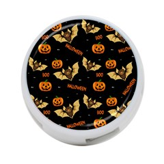 Bat, Pumpkin And Spider Pattern 4 Port Usb Hub (one Side)