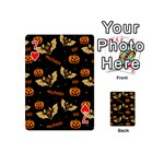 Bat, pumpkin and spider pattern Playing Cards 54 (Mini)  Front - Heart7