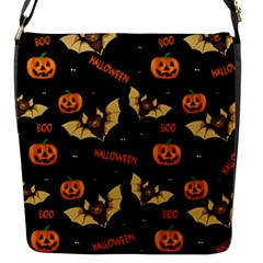 Bat, Pumpkin And Spider Pattern Flap Messenger Bag (s) by Valentinaart