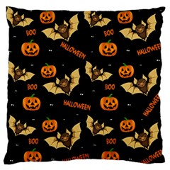 Bat, Pumpkin And Spider Pattern Standard Flano Cushion Case (one Side) by Valentinaart