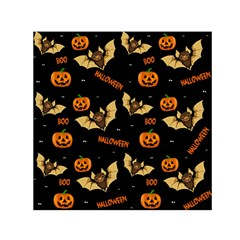Bat, Pumpkin And Spider Pattern Small Satin Scarf (square) by Valentinaart