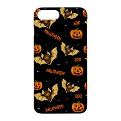 Bat, Pumpkin And Spider Pattern Apple Iphone 7 Plus Hardshell Case