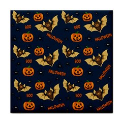 Bat, Pumpkin And Spider Pattern Tile Coasters by Valentinaart