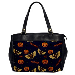 Bat, Pumpkin And Spider Pattern Office Handbags by Valentinaart
