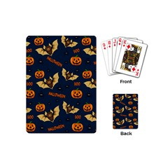Bat, Pumpkin And Spider Pattern Playing Cards (mini)