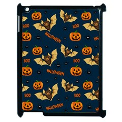 Bat, Pumpkin And Spider Pattern Apple Ipad 2 Case (black) by Valentinaart