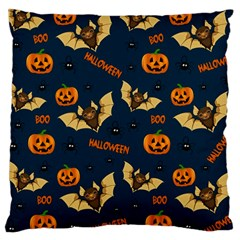 Bat, Pumpkin And Spider Pattern Large Cushion Case (one Side)