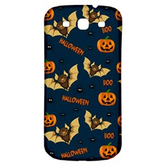 Bat, Pumpkin And Spider Pattern Samsung Galaxy S3 S Iii Classic Hardshell Back Case