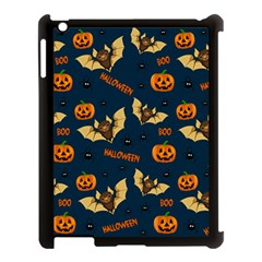 Bat, Pumpkin And Spider Pattern Apple Ipad 3/4 Case (black) by Valentinaart