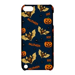 Bat, Pumpkin And Spider Pattern Apple Ipod Touch 5 Hardshell Case With Stand by Valentinaart