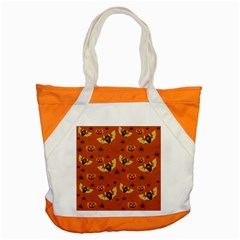 Bat, Pumpkin And Spider Pattern Accent Tote Bag