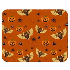Bat, Pumpkin And Spider Pattern Double Sided Flano Blanket (medium)  by Valentinaart