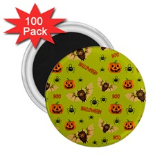 Bat, Pumpkin And Spider Pattern 2 25  Magnets (100 Pack)