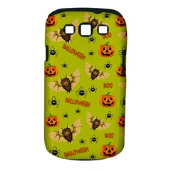 Bat, Pumpkin And Spider Pattern Samsung Galaxy S Iii Classic Hardshell Case (pc+silicone) by Valentinaart