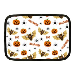 Bat, Pumpkin And Spider Pattern Netbook Case (medium)
