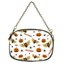 Bat, Pumpkin And Spider Pattern Chain Purses (two Sides)  by Valentinaart