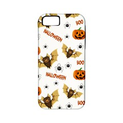 Bat, Pumpkin And Spider Pattern Apple Iphone 5 Classic Hardshell Case (pc+silicone)