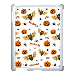 Bat, Pumpkin And Spider Pattern Apple Ipad 3/4 Case (white) by Valentinaart