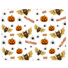 Bat, Pumpkin And Spider Pattern Double Sided Flano Blanket (medium)