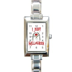 I Just Love Halloween Rectangle Italian Charm Watch by Valentinaart