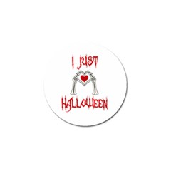 I Just Love Halloween Golf Ball Marker (4 Pack) by Valentinaart