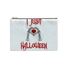 I Just Love Halloween Cosmetic Bag (medium)  by Valentinaart