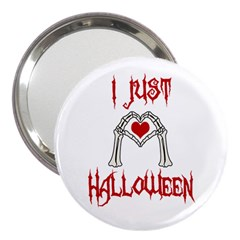 I Just Love Halloween 3  Handbag Mirrors by Valentinaart