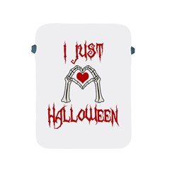 I Just Love Halloween Apple Ipad 2/3/4 Protective Soft Cases by Valentinaart