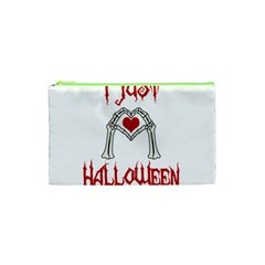 I Just Love Halloween Cosmetic Bag (xs) by Valentinaart