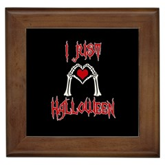 I Just Love Halloween Framed Tiles by Valentinaart