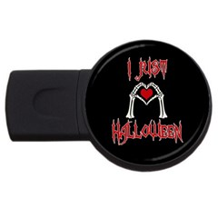 I Just Love Halloween Usb Flash Drive Round (4 Gb) by Valentinaart
