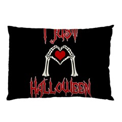 I Just Love Halloween Pillow Case by Valentinaart