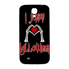 I Just Love Halloween Samsung Galaxy S4 I9500/i9505  Hardshell Back Case by Valentinaart