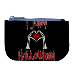 I Just Love Halloween Large Coin Purse by Valentinaart