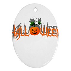 Halloween Ornament (oval) by Valentinaart