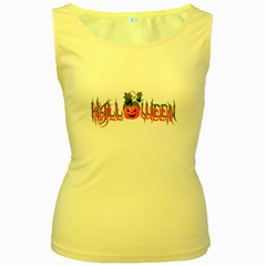 Halloween Women s Yellow Tank Top