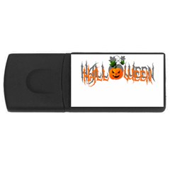 Halloween Rectangular Usb Flash Drive by Valentinaart