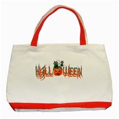 Halloween Classic Tote Bag (red) by Valentinaart