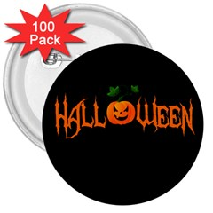 Halloween 3  Buttons (100 Pack)  by Valentinaart