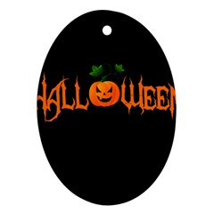 Halloween Oval Ornament (two Sides) by Valentinaart