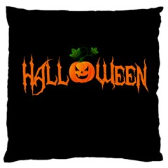 Halloween Large Cushion Case (one Side)