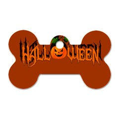 Halloween Dog Tag Bone (one Side) by Valentinaart