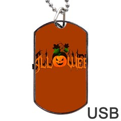Halloween Dog Tag Usb Flash (two Sides)
