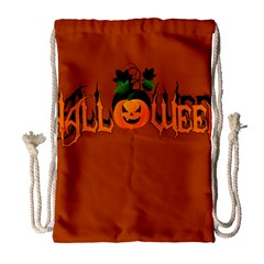 Halloween Drawstring Bag (large) by Valentinaart